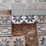 Painted terrazzo tiles