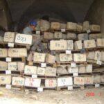 Mamila, Jerusalem. Stone marking, unloading and storage until reassembly.