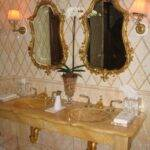 Plaza Hotel New York. Special mosaic work and sculpted bathing surfaces.